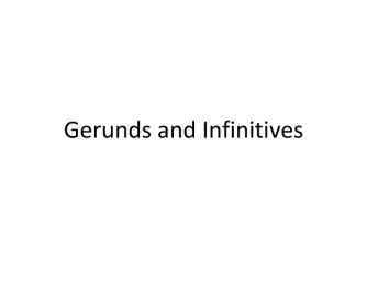Gerund and Infinitive Powerpoint Slideshow with Quiz