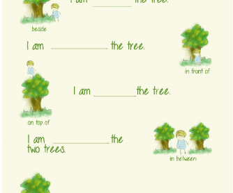 Children's Preposition of Place