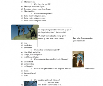 Movie Worksheet: Destino