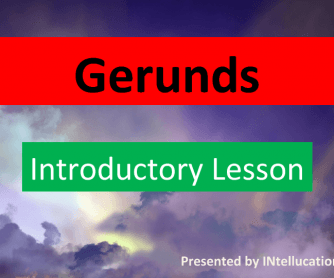 Gerunds: Introductory Lesson PPT
