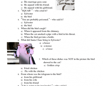 Movie Worksheet : Life with Feathers