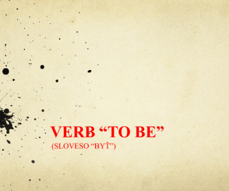 "Verb ""to Be"" with Slovak Translation"