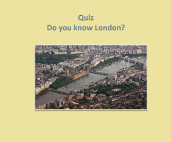 Quiz: Do You Know London?