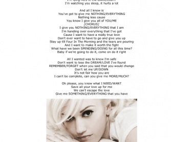 Song Worksheet: 4 in the Morning by Gwen Stefani