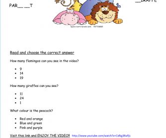 Movie Worksheet: Open Happiness (Animals)