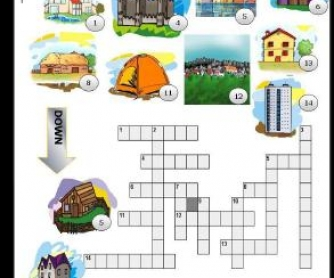 Types of Houses Picture Crossword