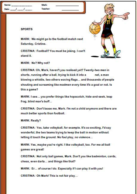 The Great Ball Game Worksheets
