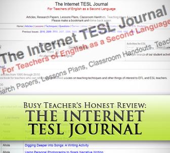The Internet TESL Journal: BusyTeacher's Detailed Review