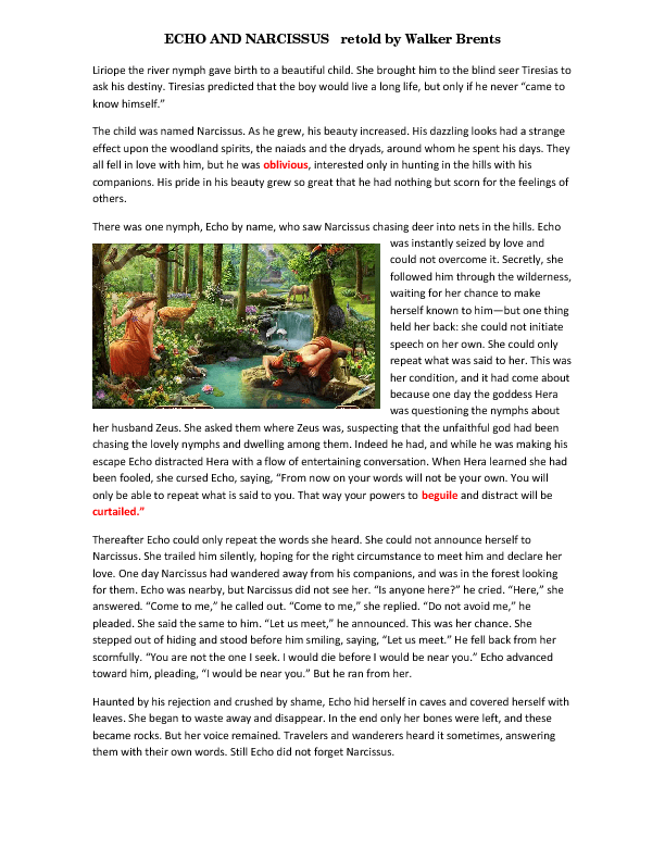 echo and narcissus story