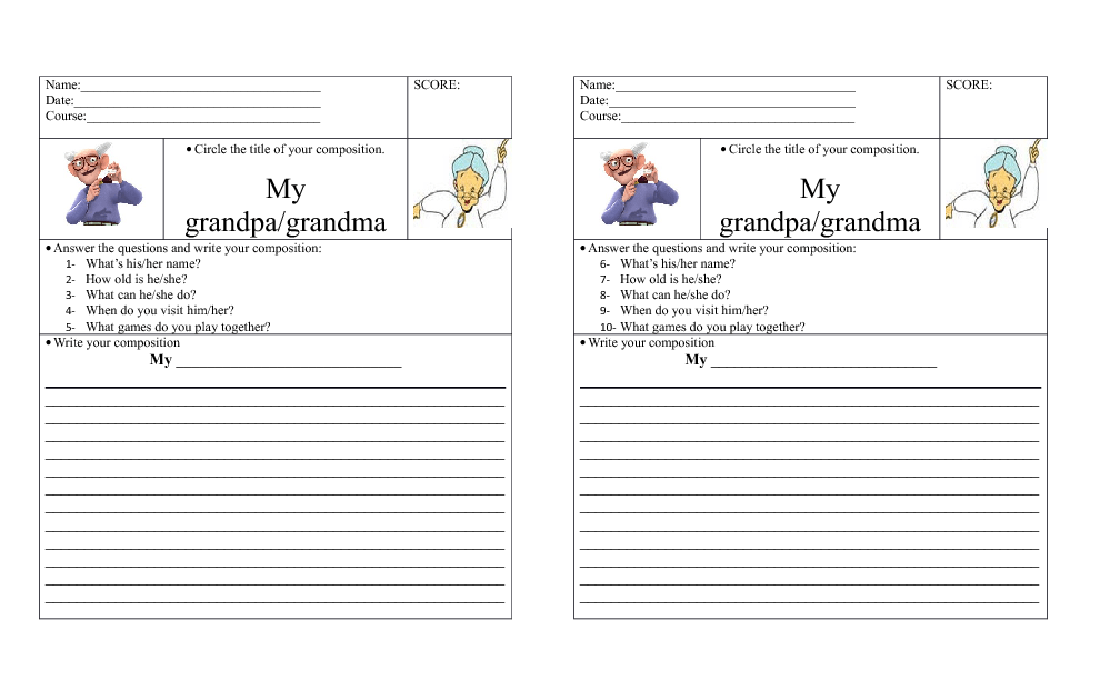 Composition about Grandparents