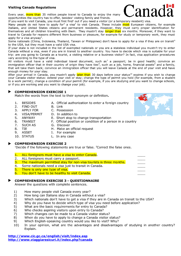 Grade 6 english worksheets canada