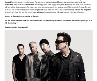 Song Worksheet:I Still Haven't Found What I'm Looking For by U2