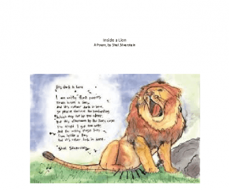 Inside a Lion, a Poem by Shel Silverstein [PowerPoint]