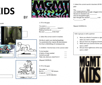 Song Worksheet: Kids by MGMT
