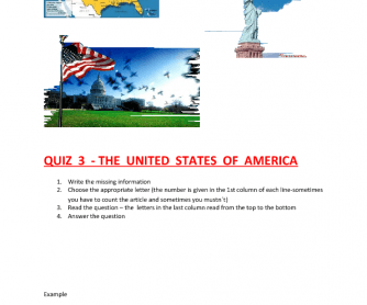 The USA Quiz- .Doc