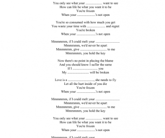 Song worksheet: Frozen by Madonna