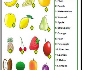 Fruits Matching Activity