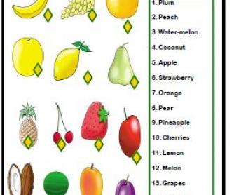 Fruits Matching Activity