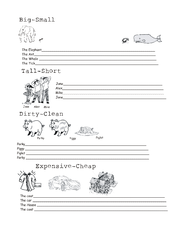 Superlatives Worksheet – Comparatives and Superlatives Worksheets
