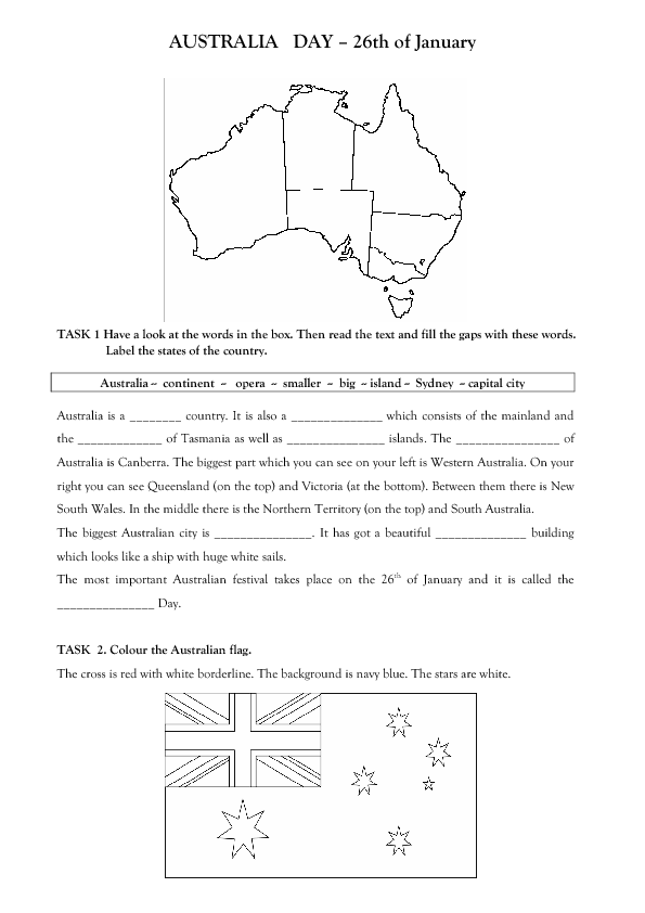 49 FREE AustraliaNew Zealand Worksheets – Australia Worksheets