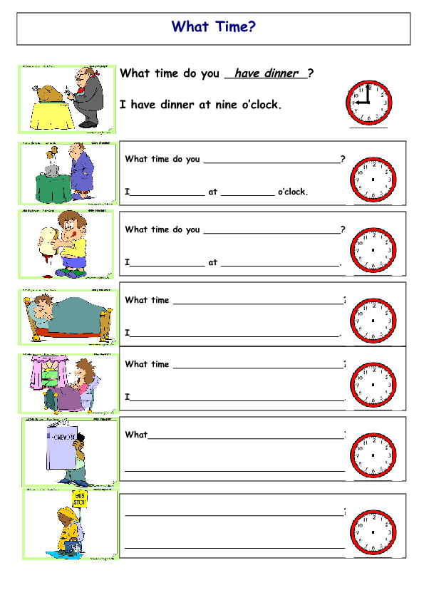 Time – What Time is It Worksheet