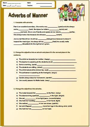 Adverbs Of Manner Pre Intermediate Worksheet