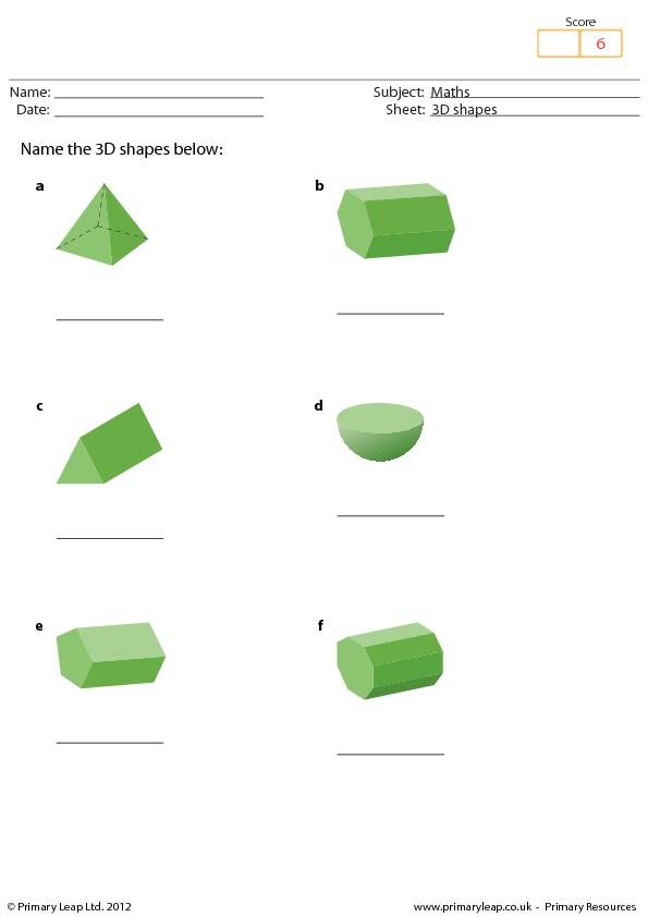 Shapes Maths Worksheet