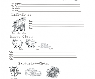Comparatives-Superlatives Worksheet