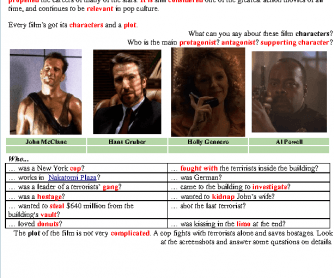 Movie worksheet: Die hard (1988)