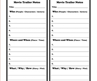 Movie Worksheet: Trailer