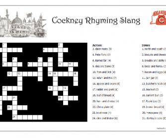 London's Cockney Rhyming Slang Crossword