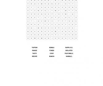 FCE Vocabulary Revision