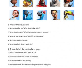 Movie Worksheet: Rio