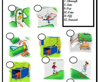 Prepositions of Movement Matching Activity