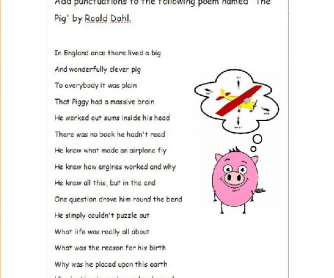 The Poem Worksheet - Sentences