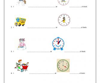 Everyday Activities & the Clock