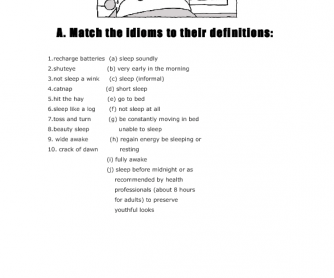 Sleeping Idioms and Expressions