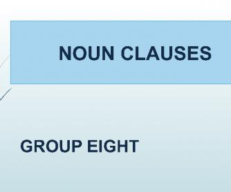 Noun Clauses