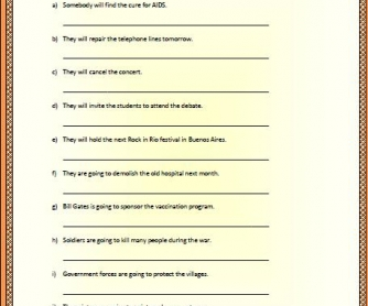 Passive Voice: Future Worksheet