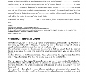 Movie worksheet: The King's Speech