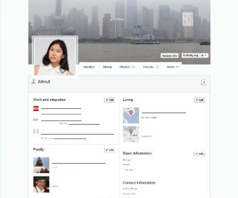 Empty Facebook Timeline