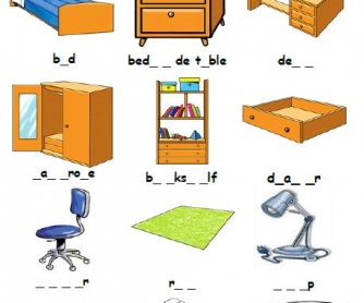 Bedroom Missing Letters Activity