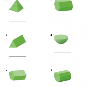 3D Shapes - Maths Worksheet