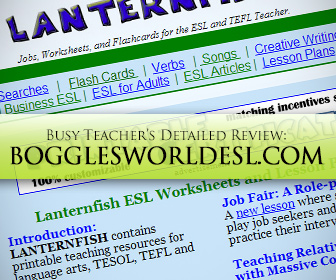 Bogglesworldesl.com: BusyTeacher's Detailed Review