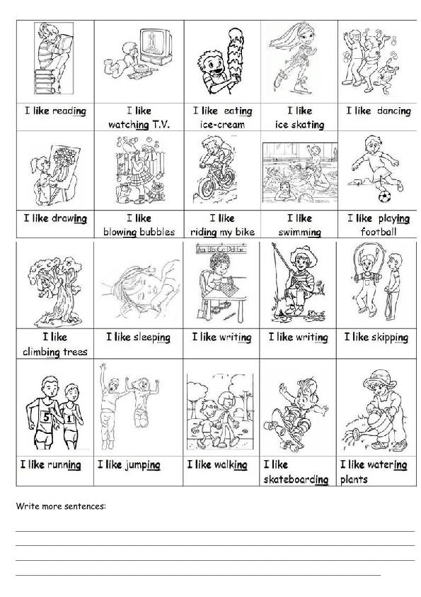 like Ing – Ing Worksheets