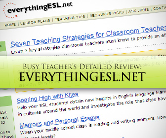 Everythingesl.net: BusyTeacher's Detailed Review