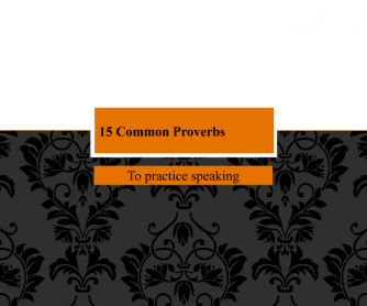 15 Common Proverbs PPT