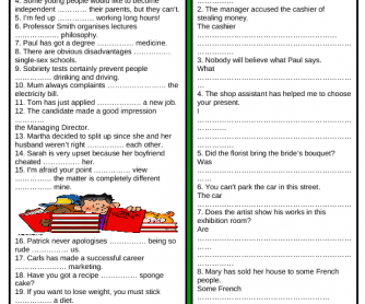 Review 2: Prepositions & Passive Voice (+ Key)