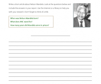 Research TOpic - Nelson Mandela
