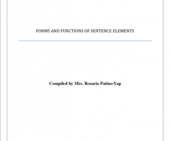 Forms and Functions
